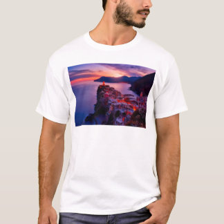 Village on River Landscape T-Shirt