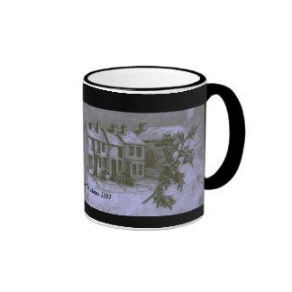 Village Snow Scene Coffee Mugs