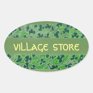 Village Store Oval Sticker