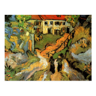 Village Street and Steps in Auvers - van Gogh Postcard