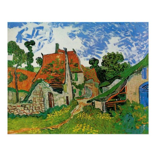 Village Street in Auvers by Vincent van Gogh Print