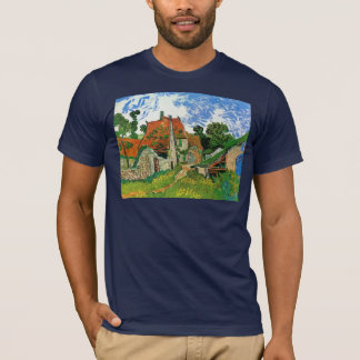 Village Street in Auvers by Vincent van Gogh T-Shirt
