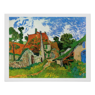 Village Street in Auvers Poster