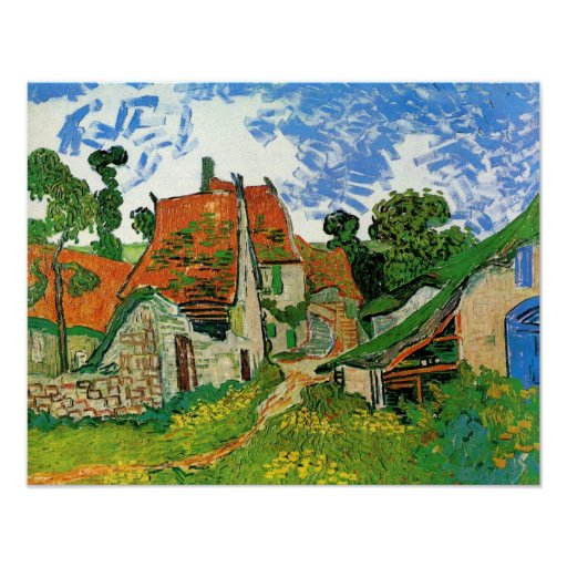 Village Street in Auvers Posters