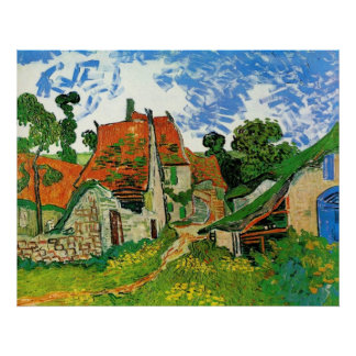 Village Street in Auvers Vincent Van Gogh Poster
