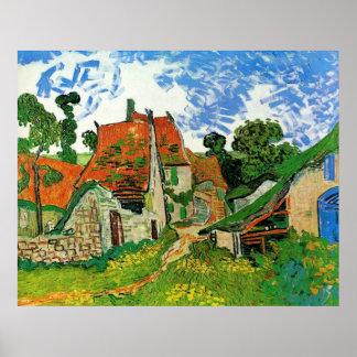 Village Street in Auvers Vincent Van Gogh Poster
