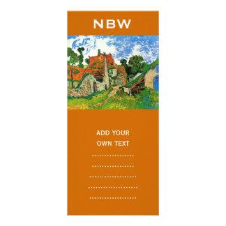 Village Street in Auvers, Vincent van Gogh Custom Rack Card