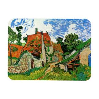 Village Street in Auvers, Vincent van Gogh Rectangular Photo Magnet