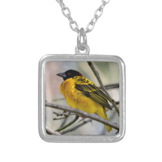 Village Weaver on branch Personalized Necklace