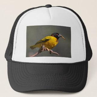 Village Weaver on branch Trucker Hat