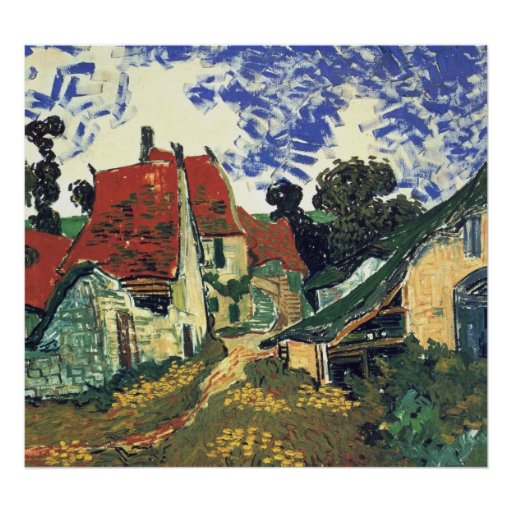 Villages Street in Auvers by Vincent van Gogh Poster