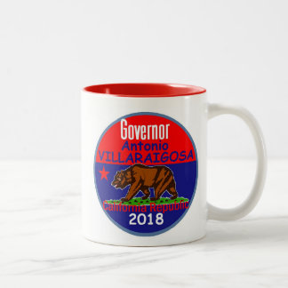 VILLARAIGOSA Governor 2018 Two-Tone Coffee Mug