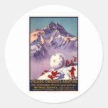 Villars Chesieres Arveyes Round Sticker