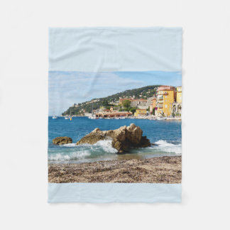 Villefranche on sea fleece blanket