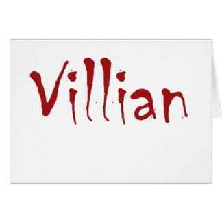 Villian Card