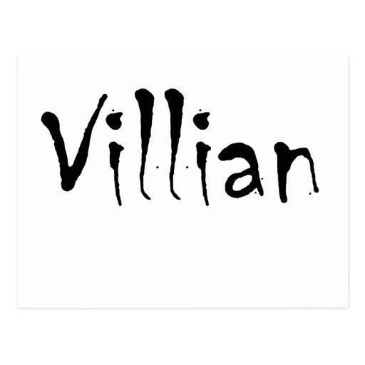 Villian Post Card