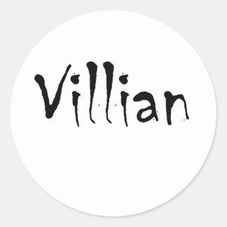 Villian Round Stickers