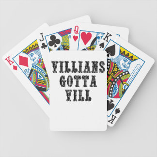 Villians Gotta Vill Bicycle Playing Cards