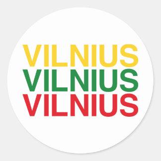 VILNIUS CLASSIC ROUND STICKER