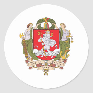 Vilnius Coat Of Arms Classic Round Sticker