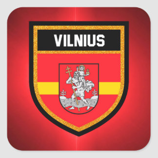Vilnius Flag Square Sticker