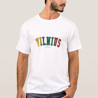 Vilnius in Lithuania national flag colors T-Shirt