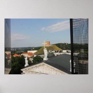 Vilnius, Lithuania Cross, Tower Poster