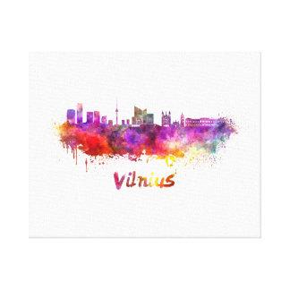 Vilnius skyline in watercolor canvas print