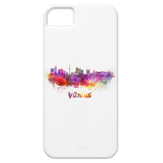 Vilnius skyline in watercolor iPhone 5 covers