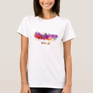 Vilnius skyline in watercolor T-Shirt
