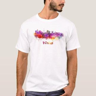 Vilnius skyline in watercolor T-Shirt