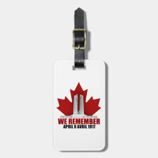 Vimy Ridge We Remember Luggage Tag