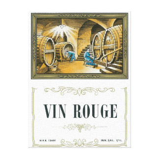 Vin Rouge Wine LabelEurope Canvas Prints