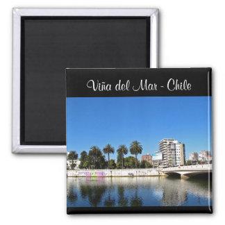 Viña del Mar - Chile Square Magnet