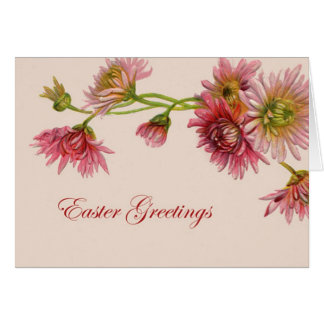 Vinage Easter card With daisies