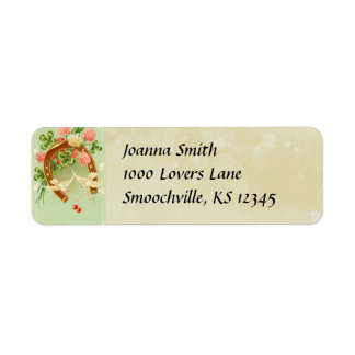 Vinage Irish Wedding Return Address Label
