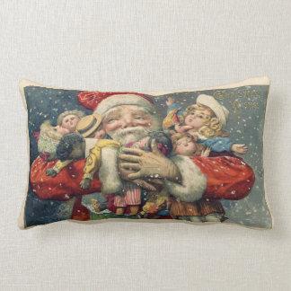 Vinage Santa Image Lumbar Pillow