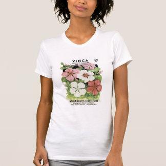 Vinca, Brilliant Mixture, Roudabush's Seed Store T-Shirt