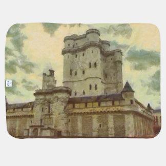 Vincennes castle, Paris painting Baby Blanket