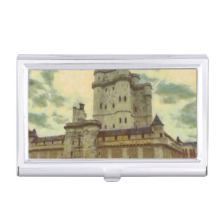 Vincennes castle, Paris painting Business Card Holder