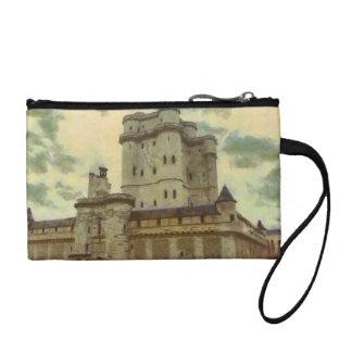 Vincennes castle, Paris painting Coin Wallet