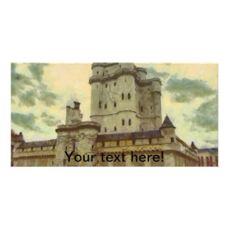 Vincennes castle, Paris painting Customised Photo Card