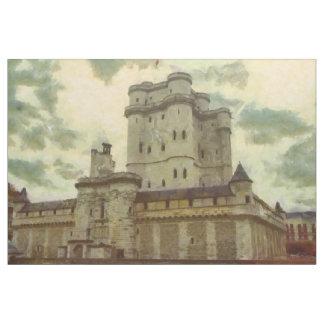 Vincennes castle, Paris painting Fabric