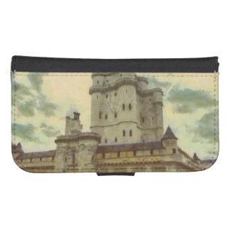 Vincennes castle, Paris painting Samsung S4 Wallet Case