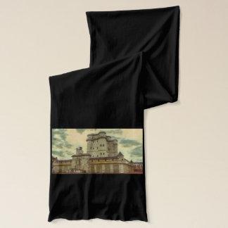 Vincennes castle, Paris painting Scarf