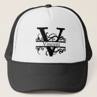 Vincent V Monogram Trucker Hat