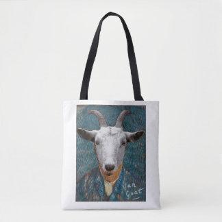 Vincent Van Goat/ Gogh Self Portrait Painting Tote Bag