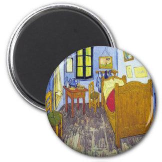 Vincent van Gogh 1888 The Bedroom At Arles 6 Cm Round Magnet