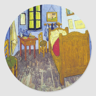 Vincent van Gogh 1888 The Bedroom At Arles Round Sticker