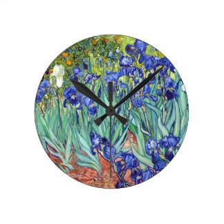 Vincent van Gogh 1889 Irises Round Clock